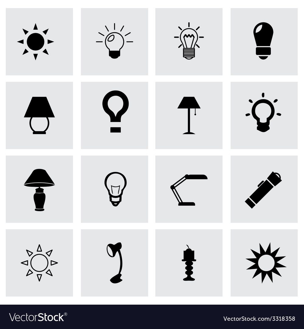 Light icon set vector | Price: 1 Credit (USD $1)