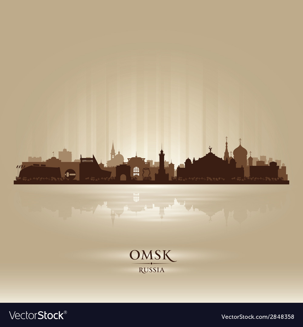 Omsk russia skyline city silhouette vector | Price: 1 Credit (USD $1)