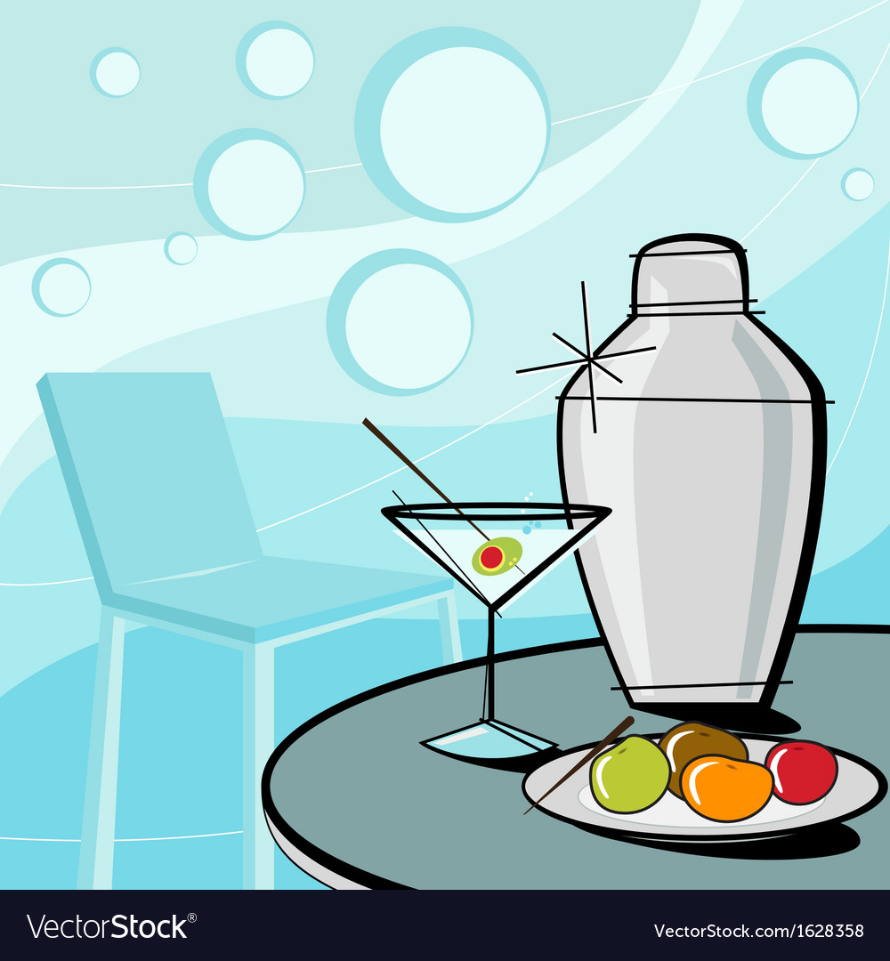 Retro of martini style vector | Price: 1 Credit (USD $1)