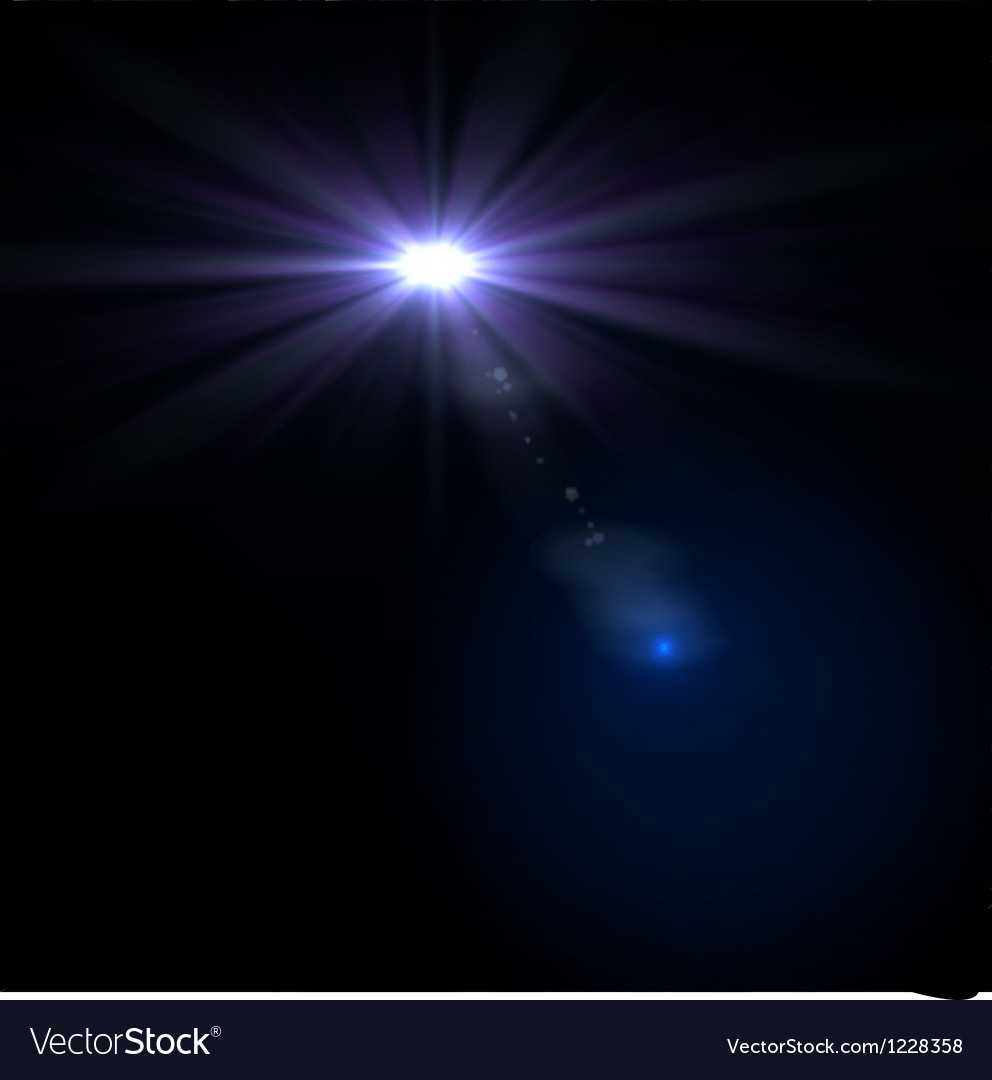 Star sun with lens flare vector | Price: 1 Credit (USD $1)