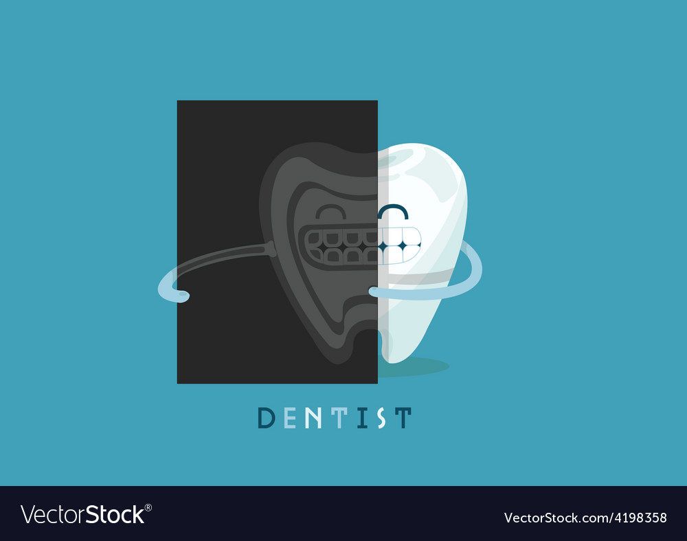 X-ray tooth vector | Price: 3 Credit (USD $3)