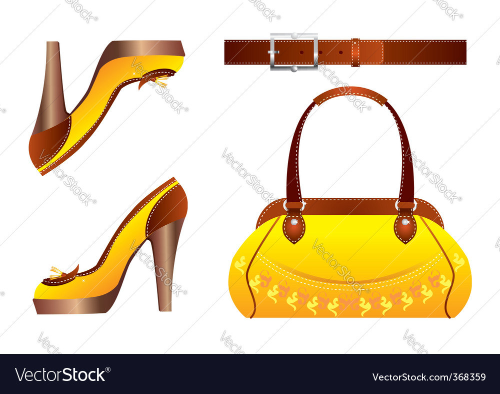 Bags and shoes vector | Price: 1 Credit (USD $1)