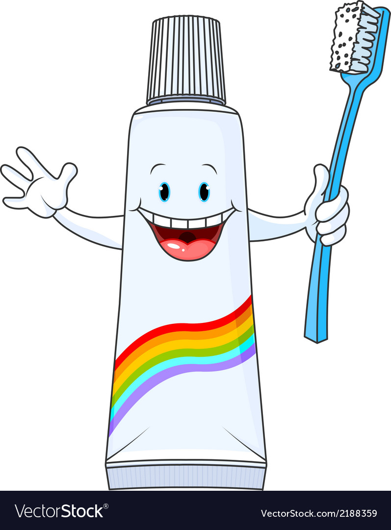 Cartoon toothpaste character vector | Price: 1 Credit (USD $1)
