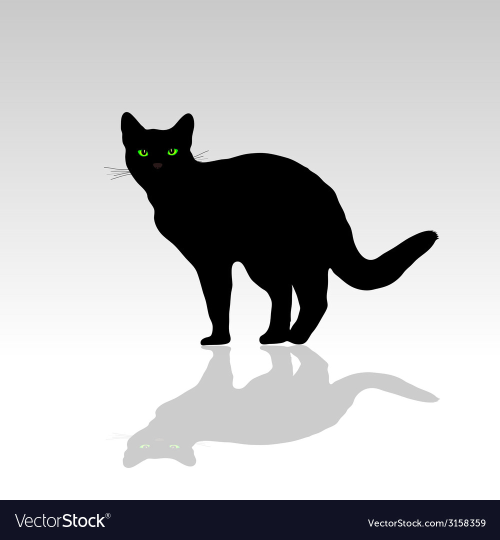 Cat with green eye vector | Price: 1 Credit (USD $1)