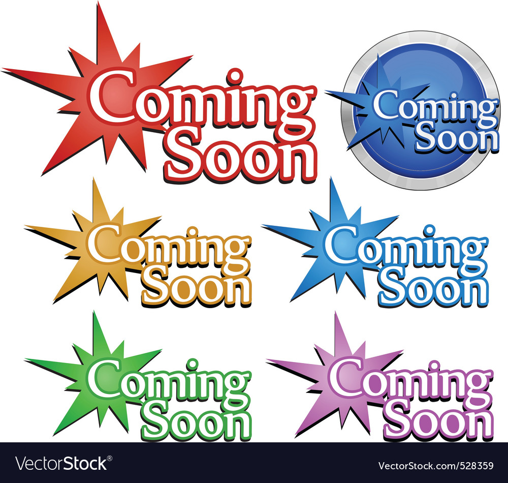 Coming soon signs vector | Price: 1 Credit (USD $1)