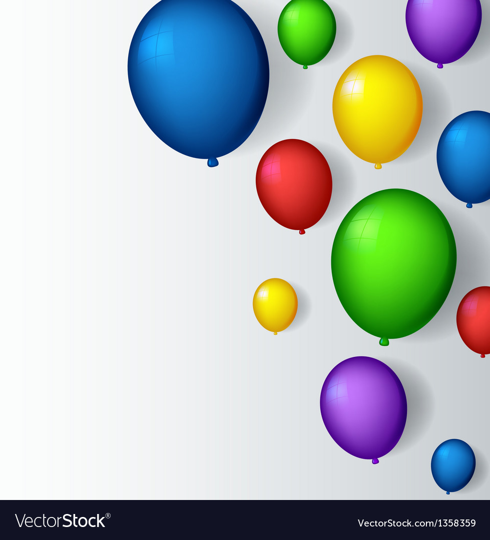 Decoration with balloons vector | Price: 1 Credit (USD $1)