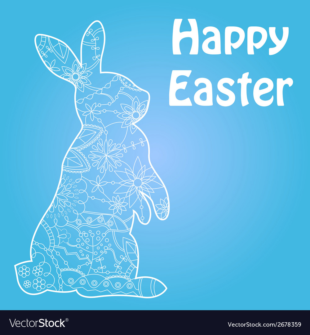 Happy easter blue vector | Price: 1 Credit (USD $1)