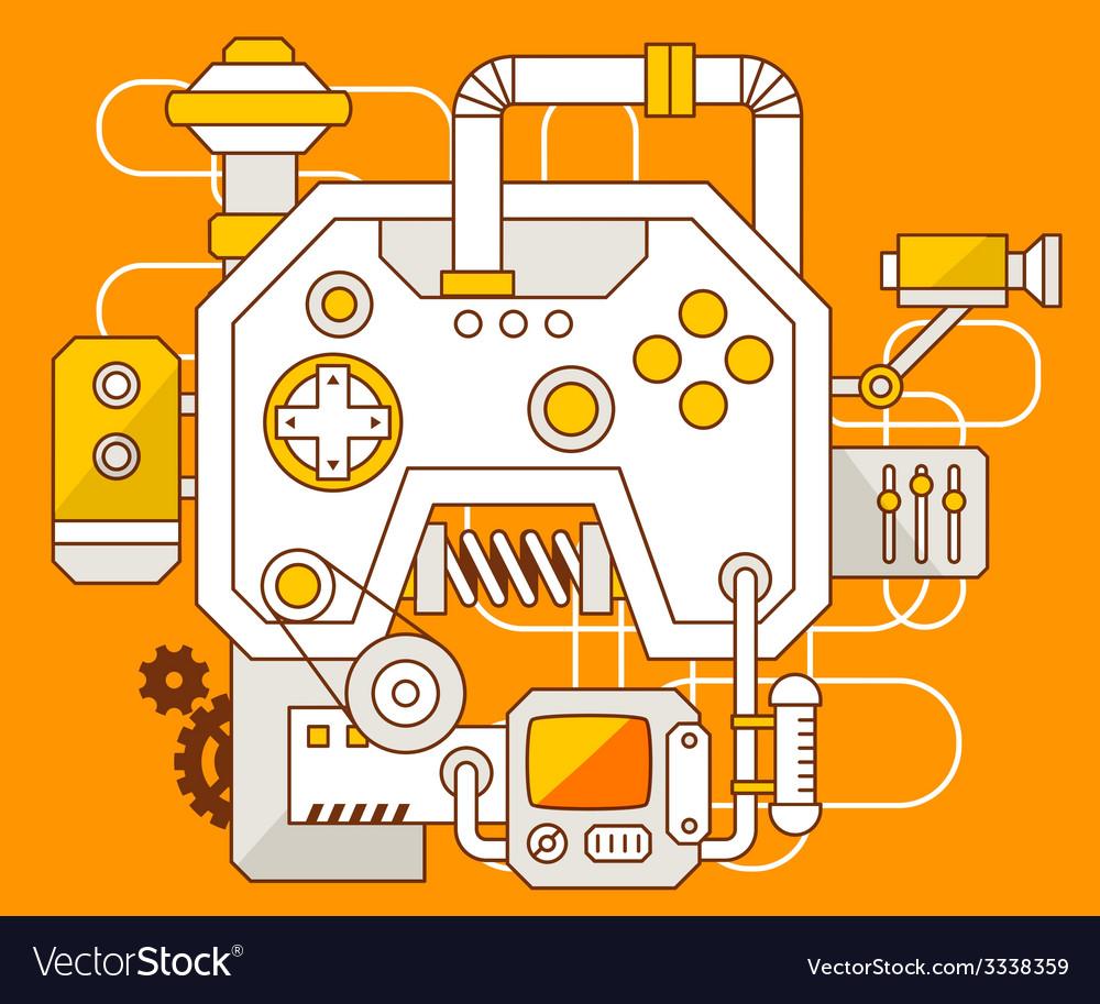 Industrial of the mechanism of joystick vector   Price: 3 Credit (USD $3)