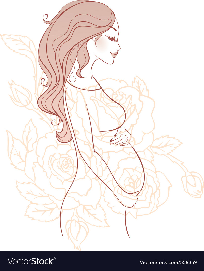 Pregnant sketch vector | Price: 1 Credit (USD $1)