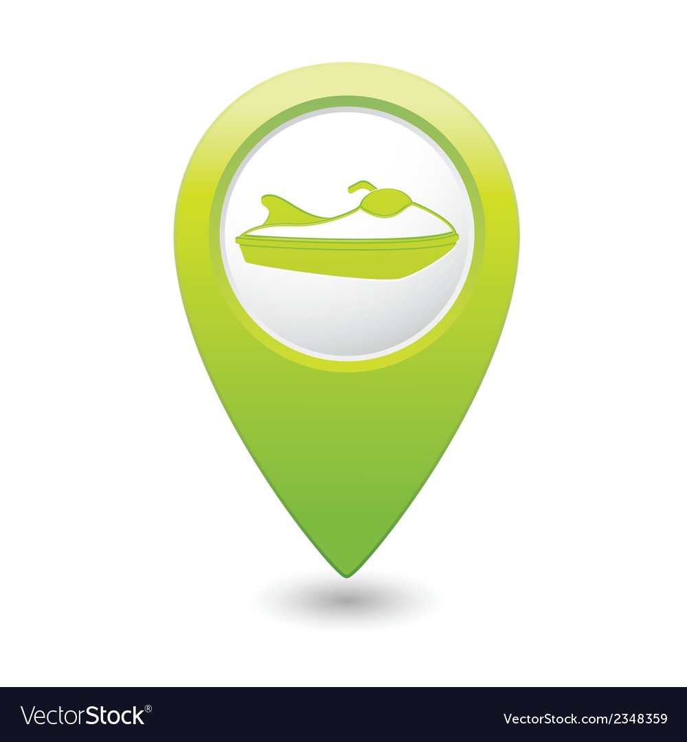 Scooter icon green map pointer vector | Price: 1 Credit (USD $1)