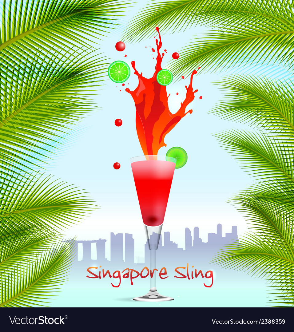 Singapore sling background vector | Price: 1 Credit (USD $1)