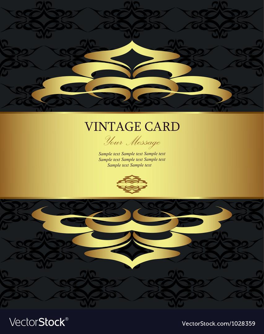 Vintage golden card vector | Price: 1 Credit (USD $1)