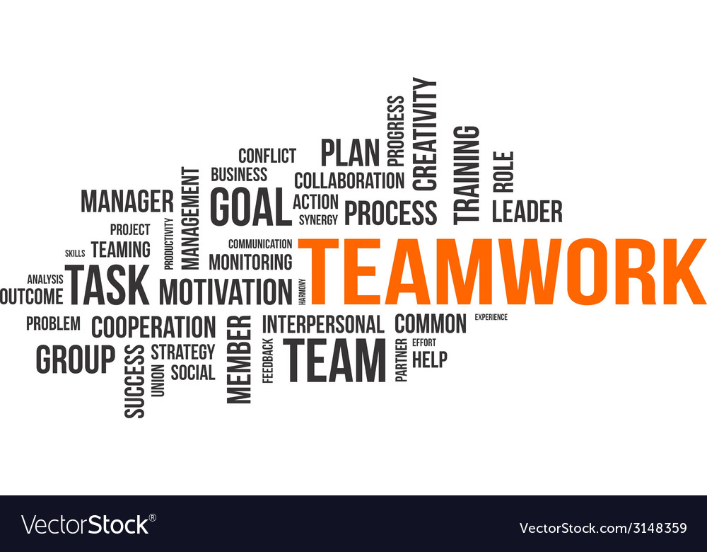 Word cloud teamwork vector | Price: 1 Credit (USD $1)