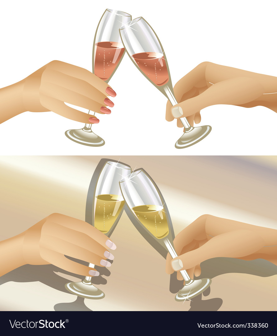 Clinking champagne glasses vector | Price: 3 Credit (USD $3)