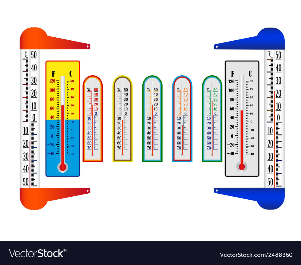 Different thermometers vector | Price: 1 Credit (USD $1)