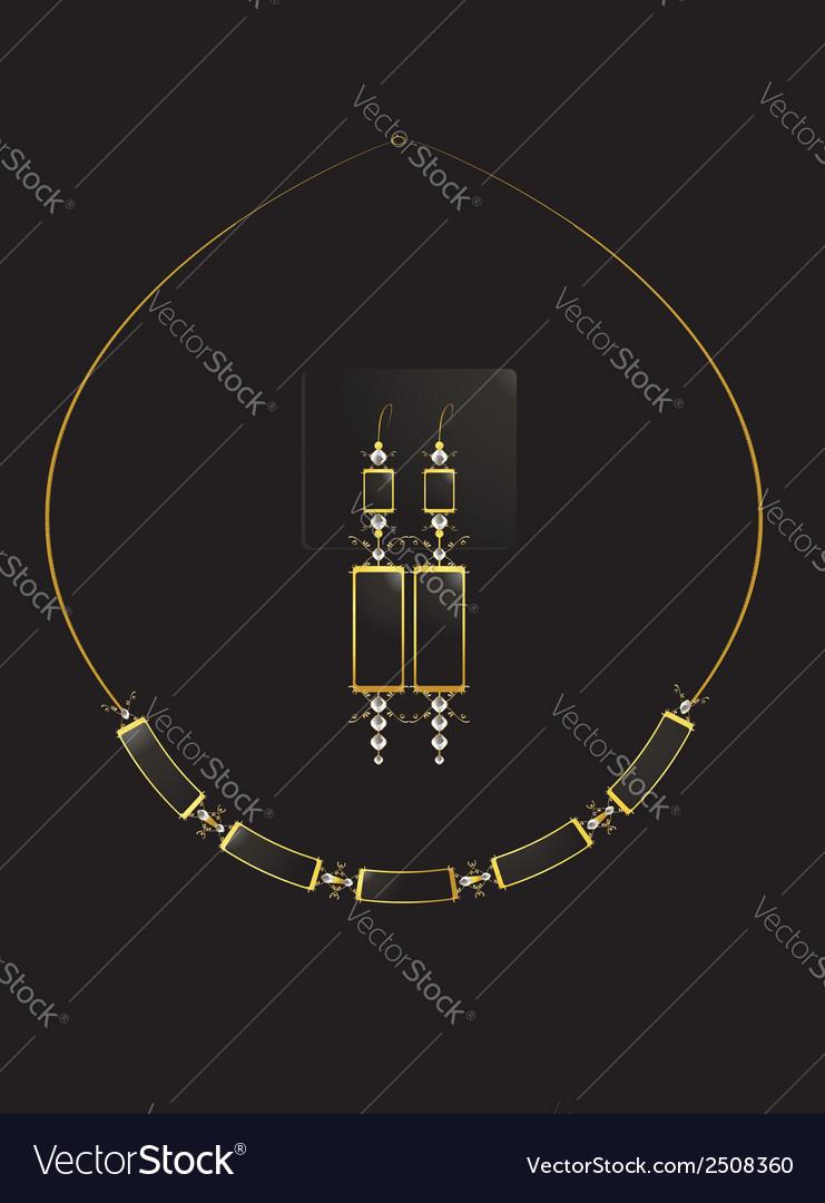 Elegant necklace set vector | Price: 1 Credit (USD $1)