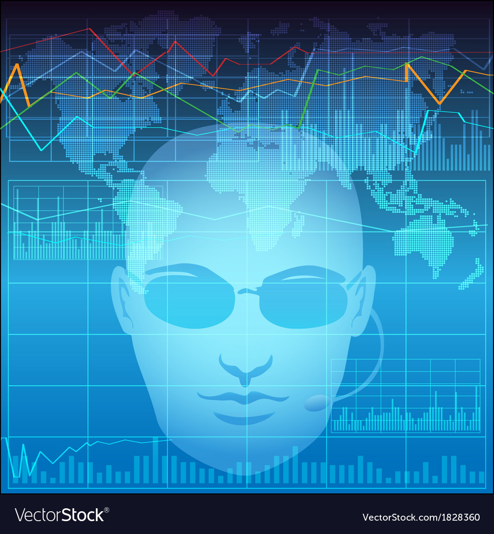 Financial analyst vector   Price: 1 Credit (USD $1)