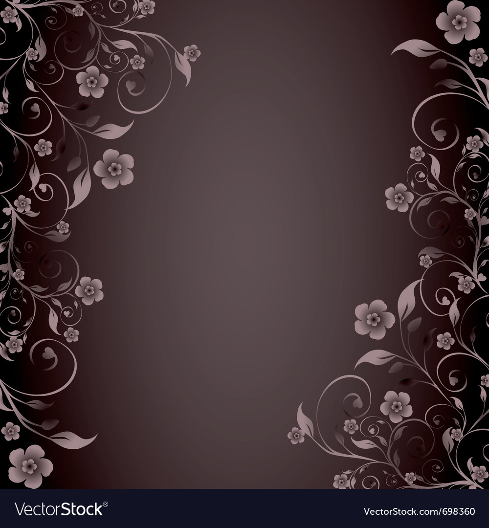 Flower ornament on brown background vector | Price: 1 Credit (USD $1)