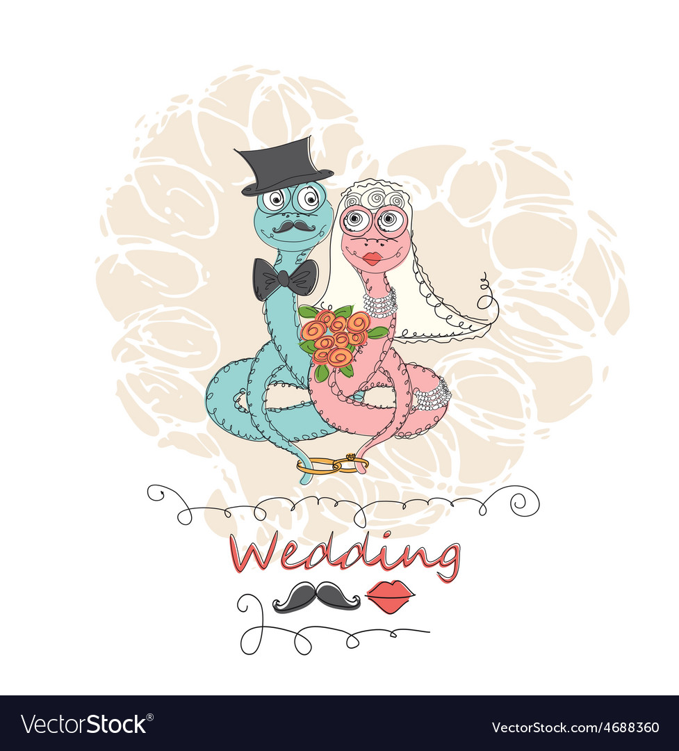 Hand drawing cartoon abstract love and wedding vector | Price: 1 Credit (USD $1)