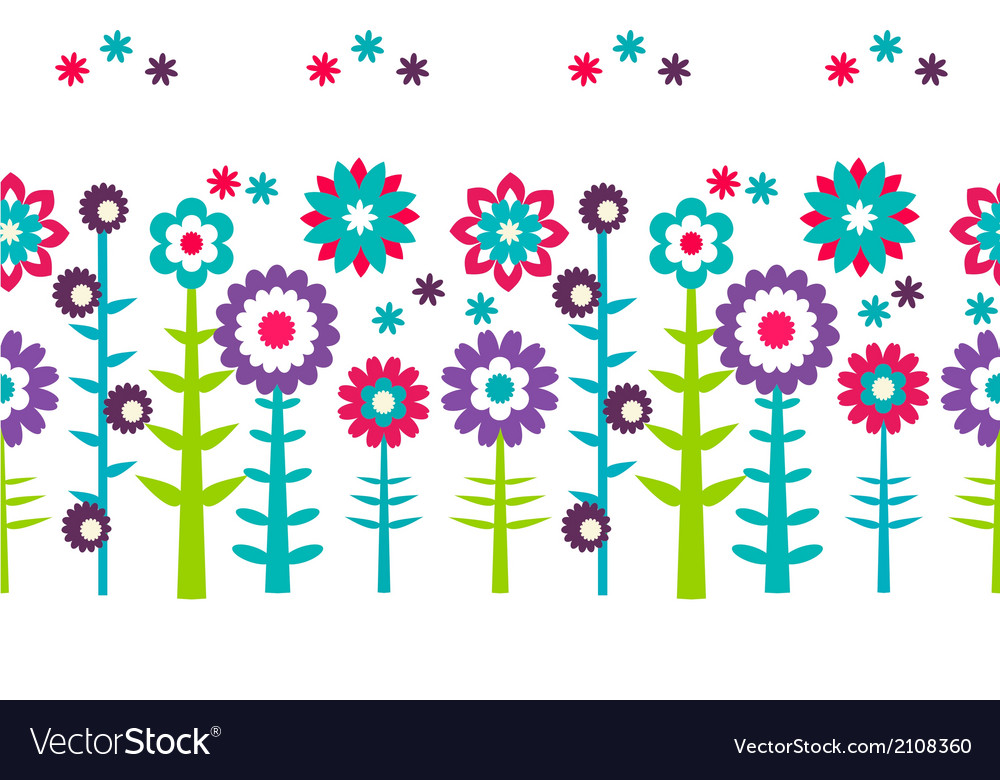 Summer flowers pattern background vector | Price: 1 Credit (USD $1)