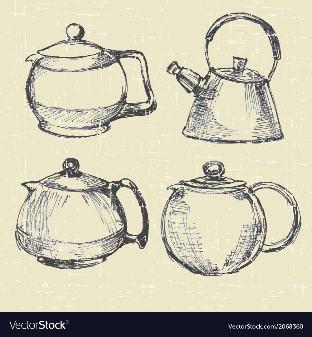 Teapots modern vector | Price: 1 Credit (USD $1)