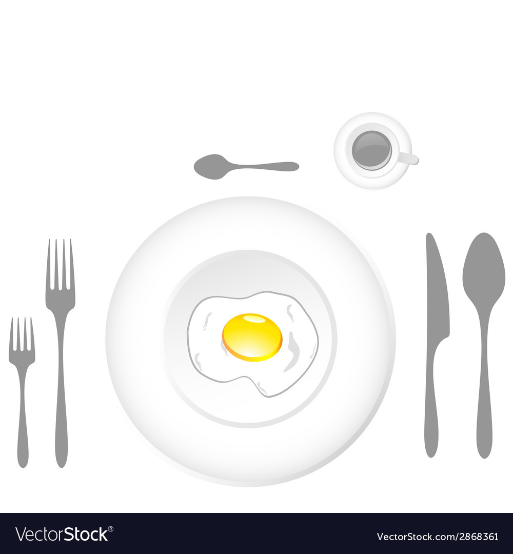 Egg plate vector | Price: 1 Credit (USD $1)