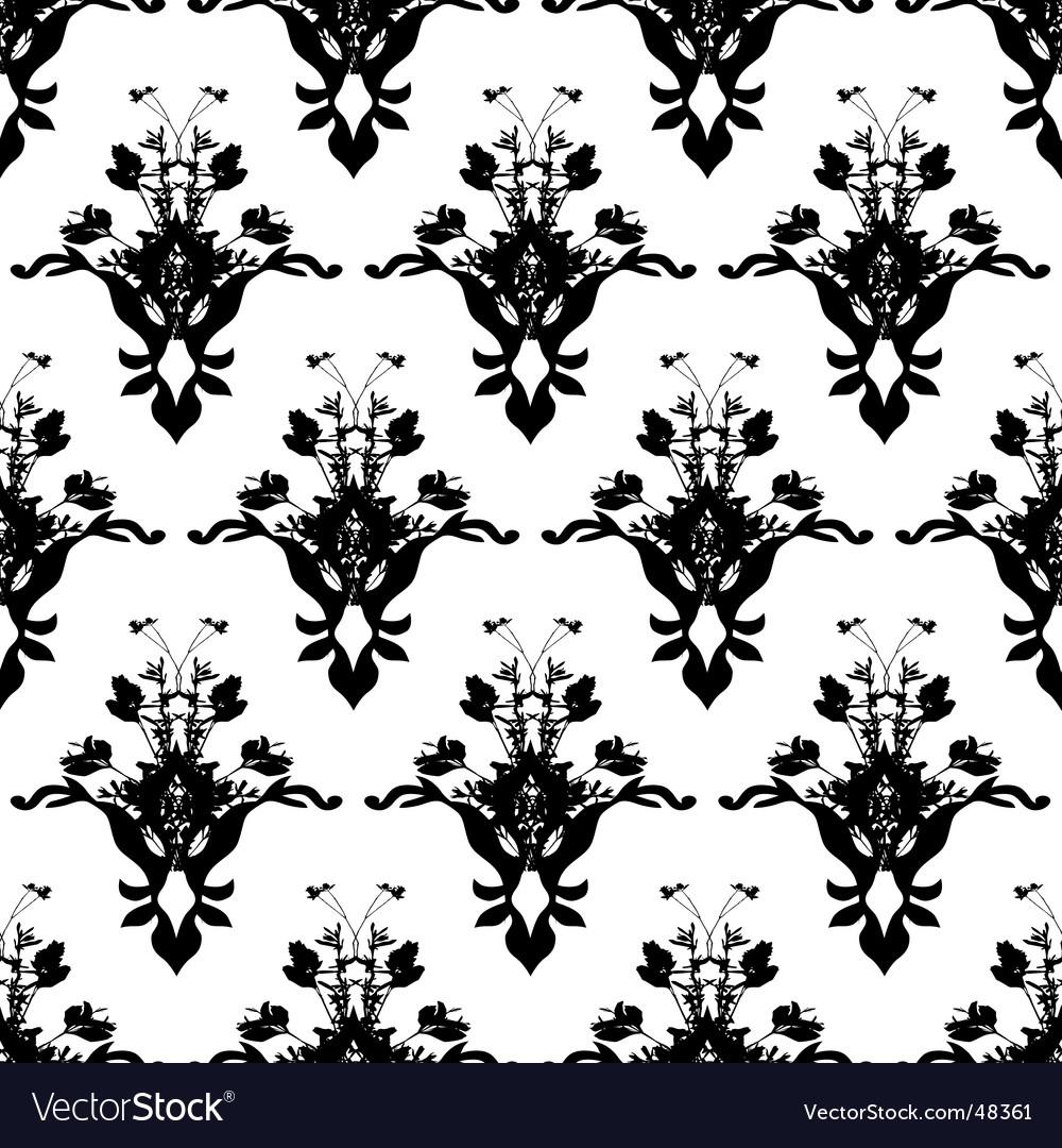Floarl black wall vector | Price: 1 Credit (USD $1)