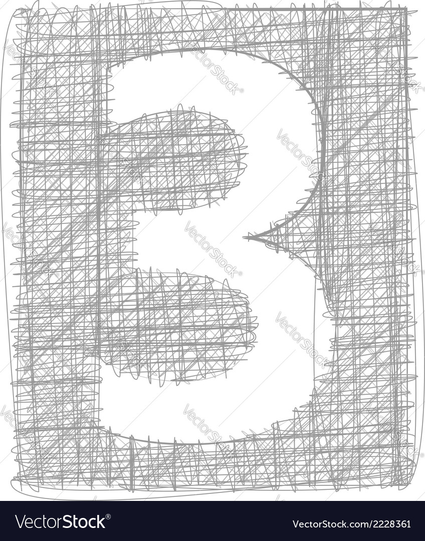 Freehand typography number 3 vector | Price: 1 Credit (USD $1)