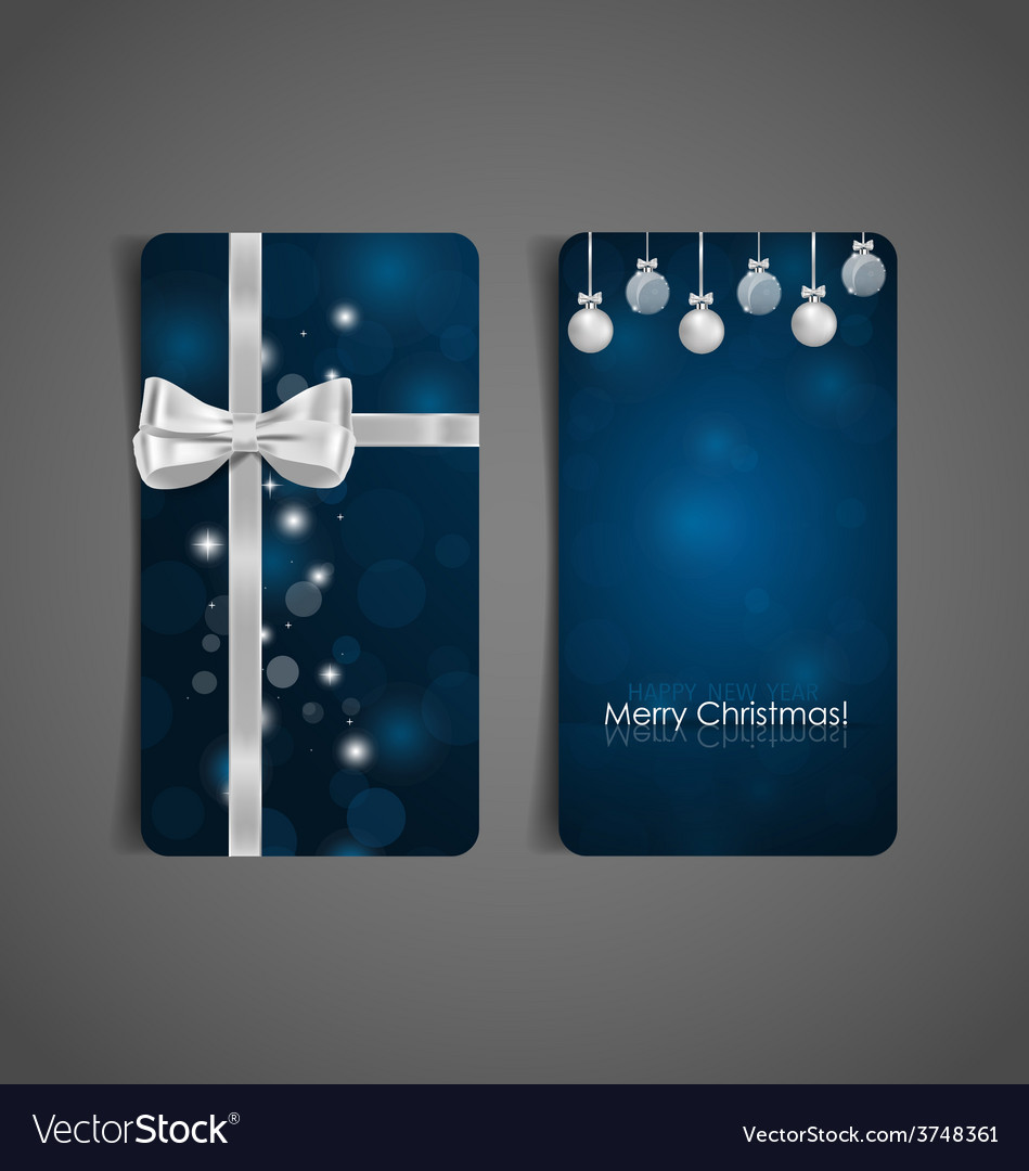 Holiday gift coupons with gift bows and christmas vector | Price: 1 Credit (USD $1)