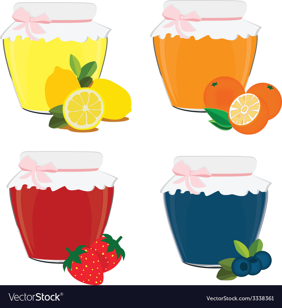 Jam jar vector | Price: 1 Credit (USD $1)