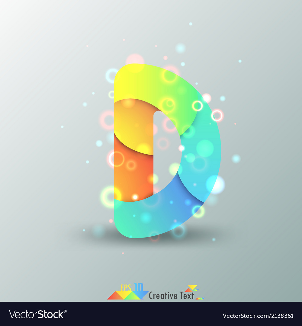 Modern capital letter d vector | Price: 1 Credit (USD $1)