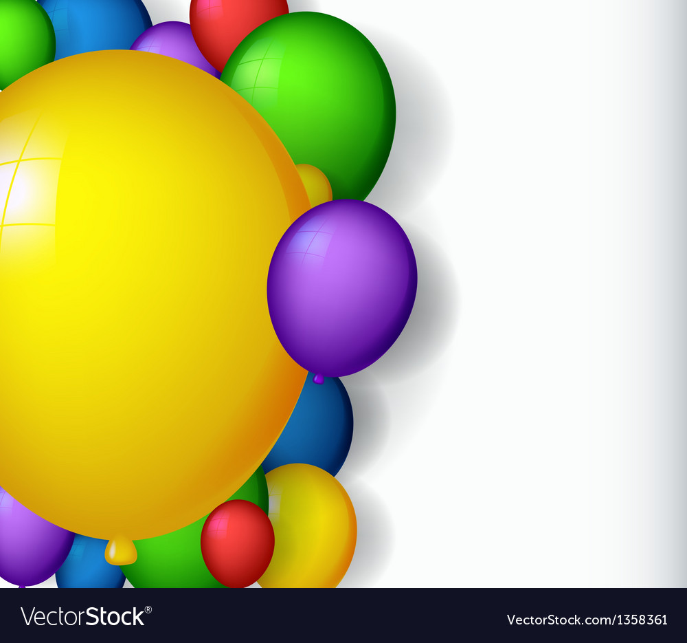 Modern decoration with balloons vector | Price: 1 Credit (USD $1)