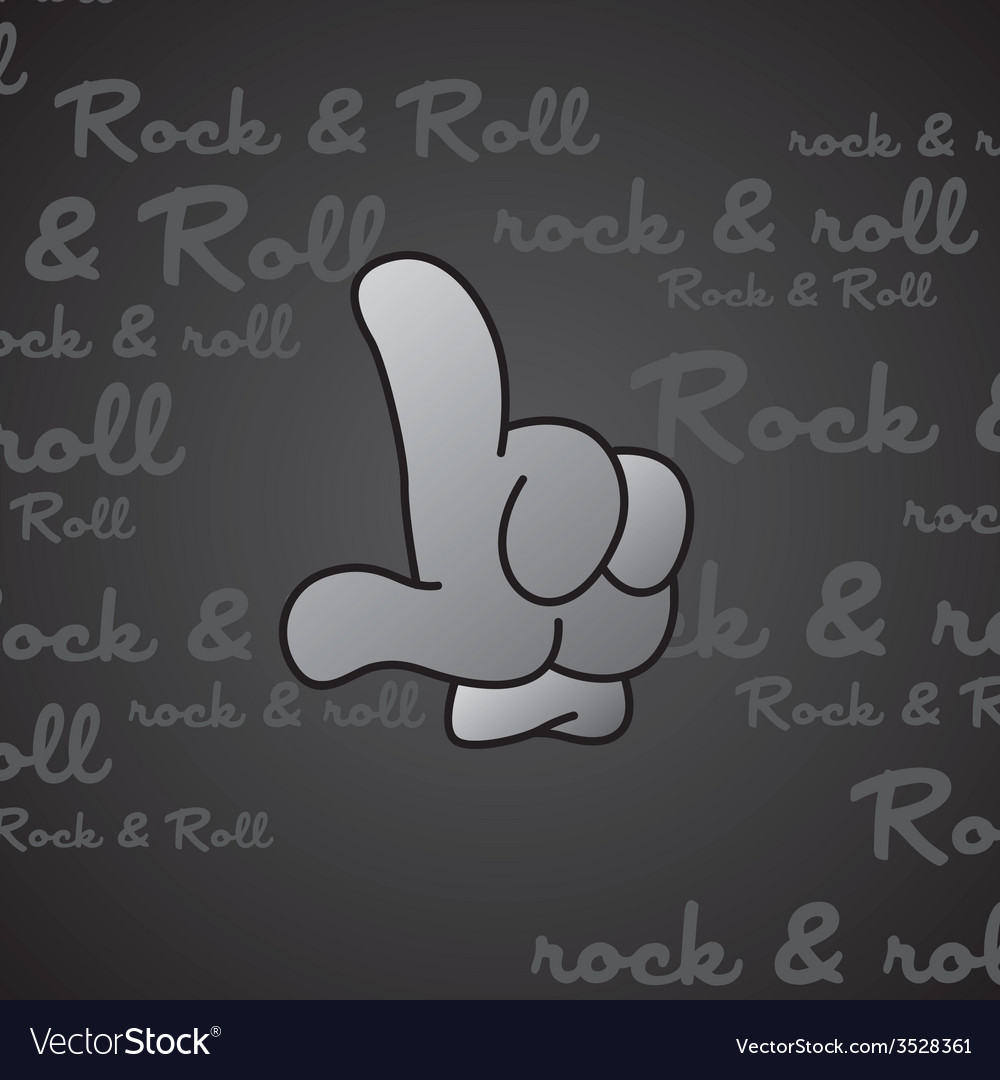 Rock and roll theme hand gesture vector   Price: 1 Credit (USD $1)