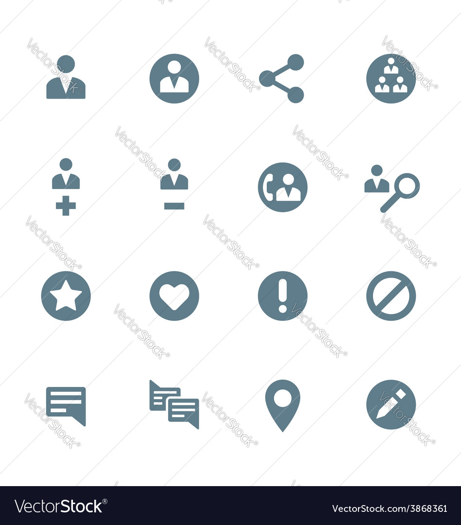 Solid grey various social network actions icons vector | Price: 1 Credit (USD $1)