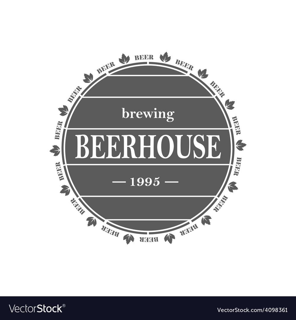 Vintage beer emblem vector | Price: 1 Credit (USD $1)