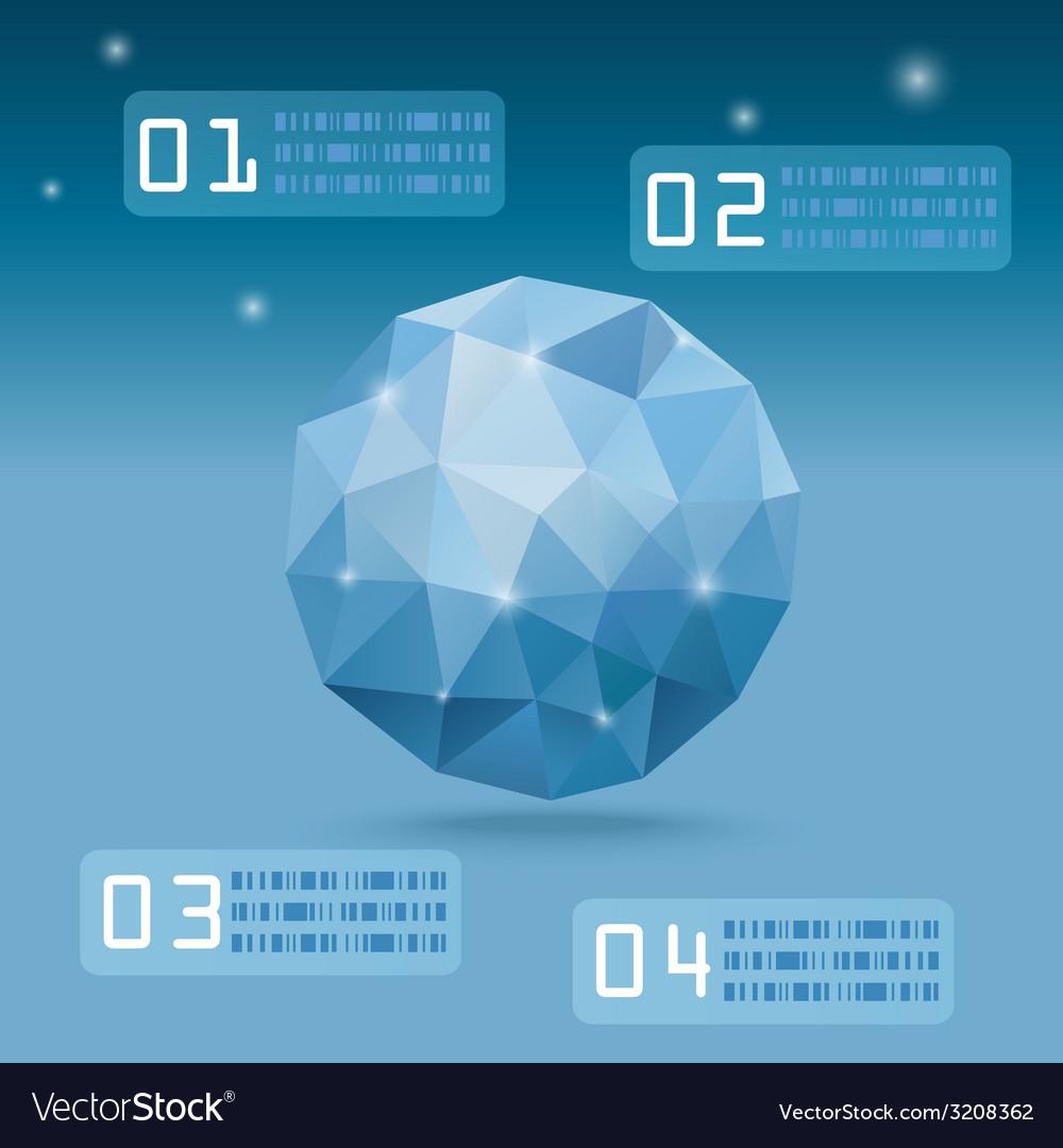 Blueorganicpolygon vector | Price: 1 Credit (USD $1)