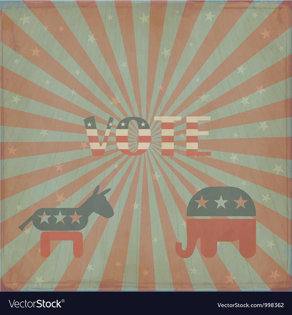 Elections in america vector | Price: 1 Credit (USD $1)