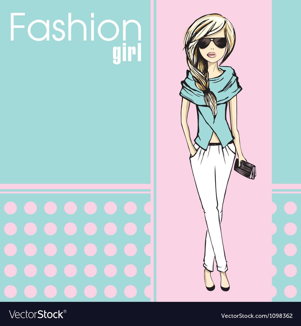 Fashion girl vector | Price: 1 Credit (USD $1)