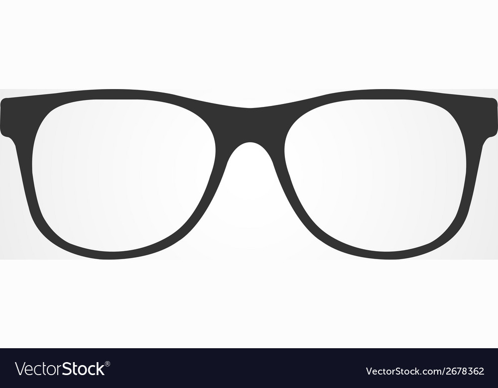 Glasses icon flat design vector | Price: 1 Credit (USD $1)