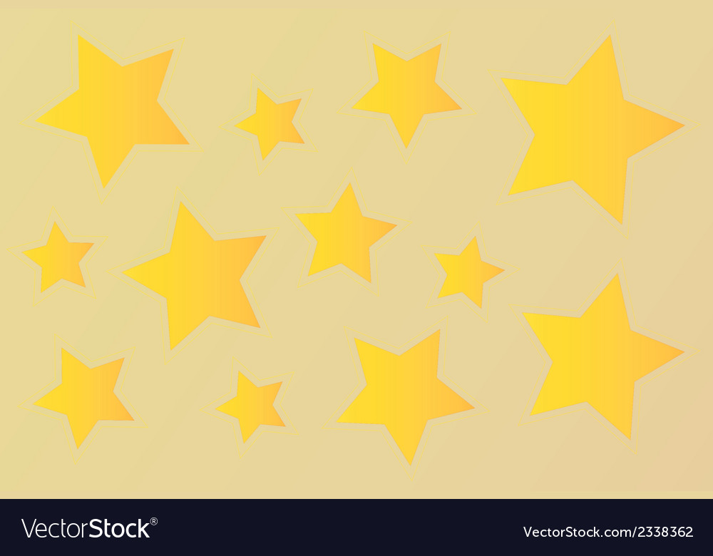 Gold stars vector | Price: 1 Credit (USD $1)