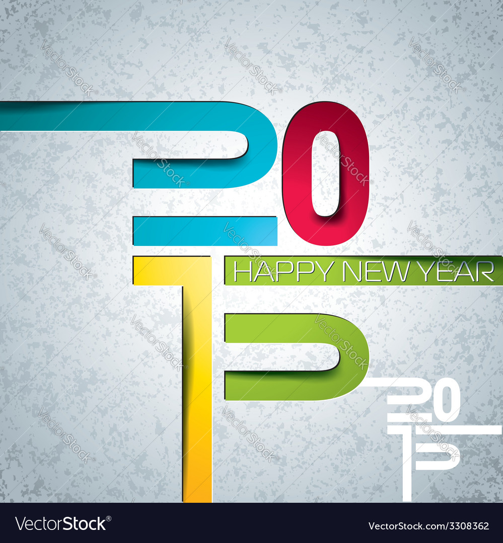 Happy new year 2015 colorful background vector | Price: 1 Credit (USD $1)