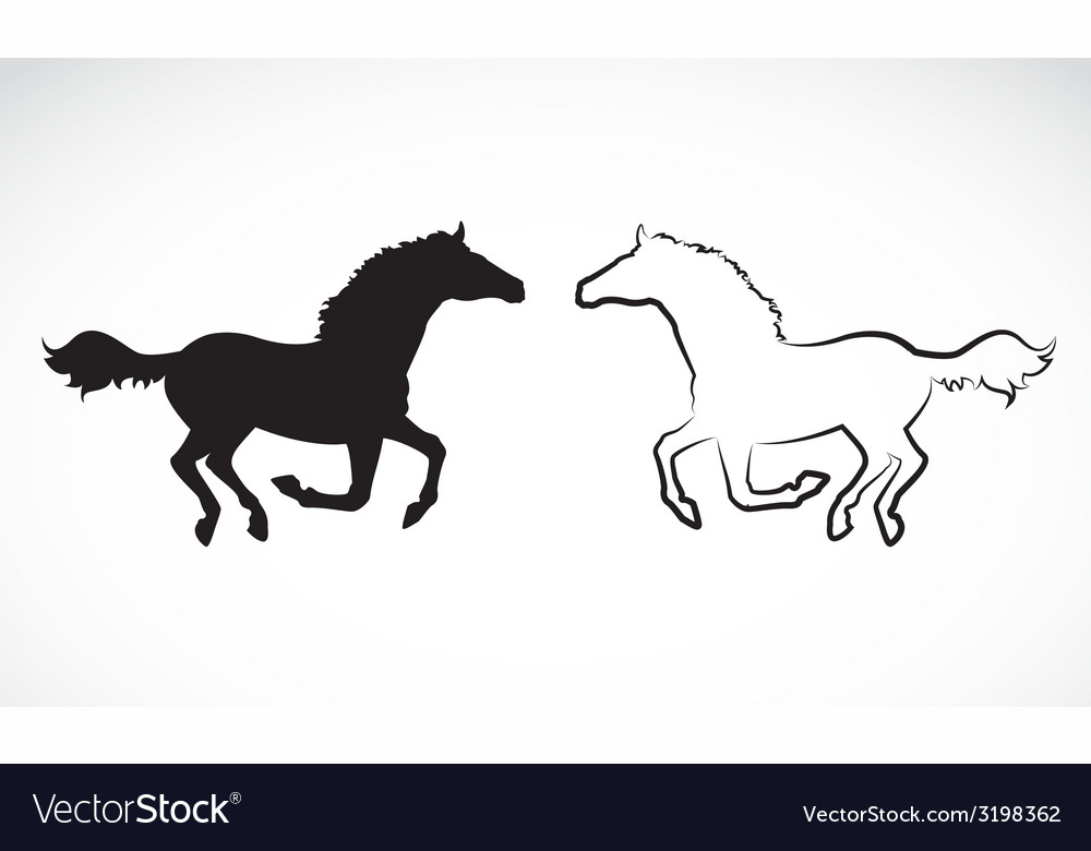 Image of an horse vector | Price: 1 Credit (USD $1)