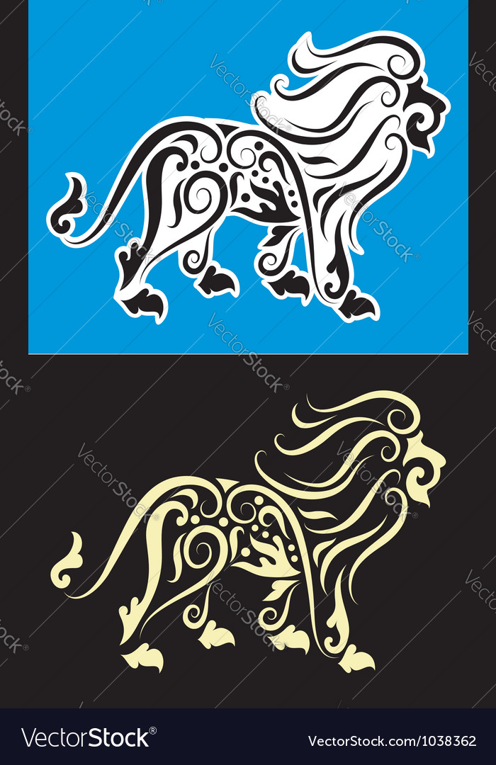 Lion cutting sticker vector | Price: 1 Credit (USD $1)