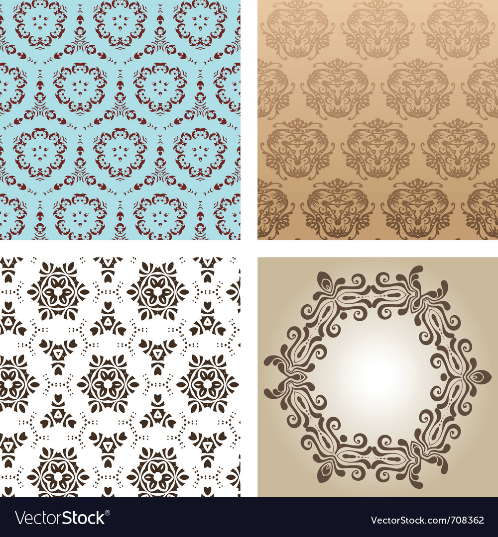 Retro wallpaper vector | Price: 1 Credit (USD $1)