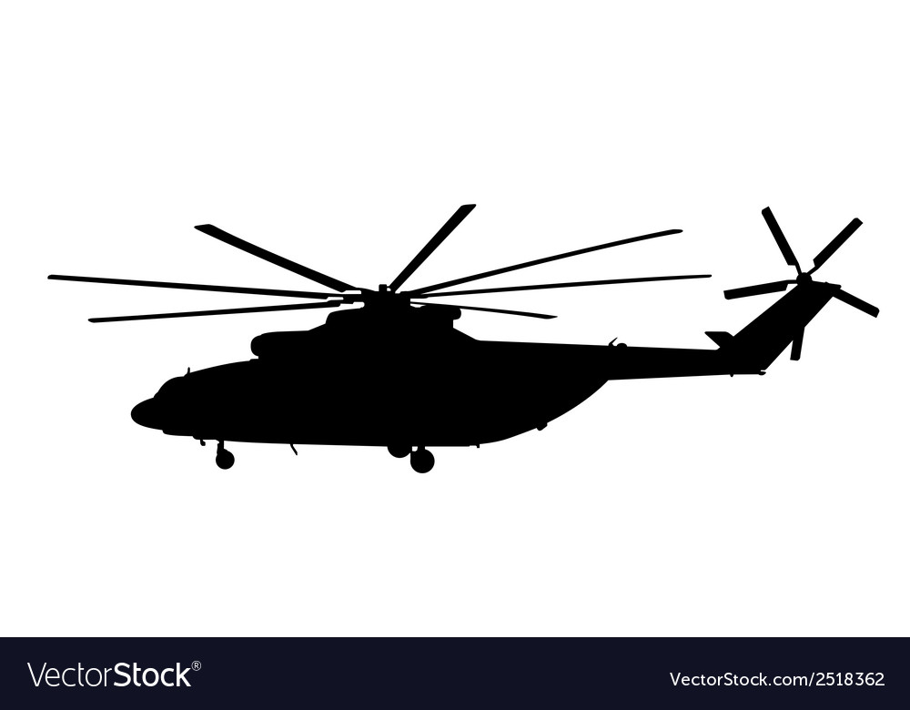 Silhouette of the helicopter vector | Price: 1 Credit (USD $1)