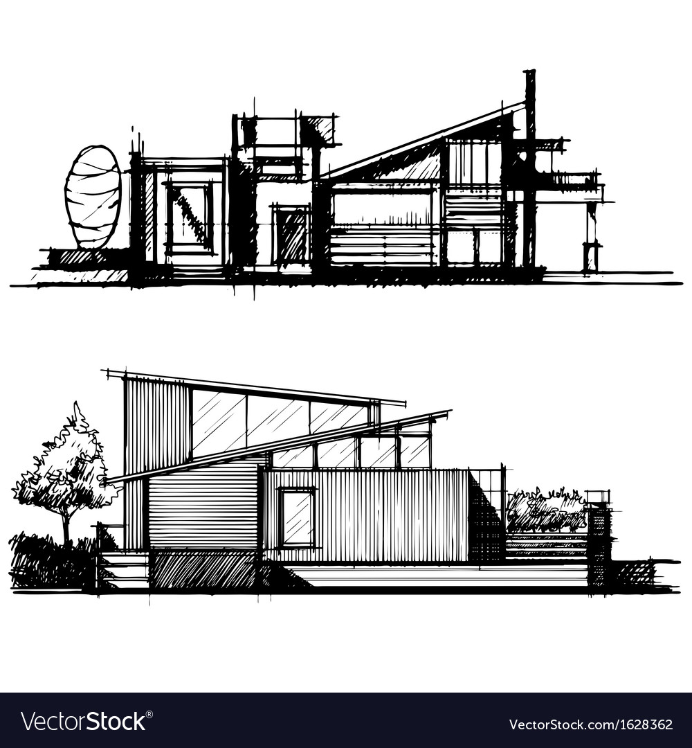 Sketch of architecture design vector | Price: 1 Credit (USD $1)