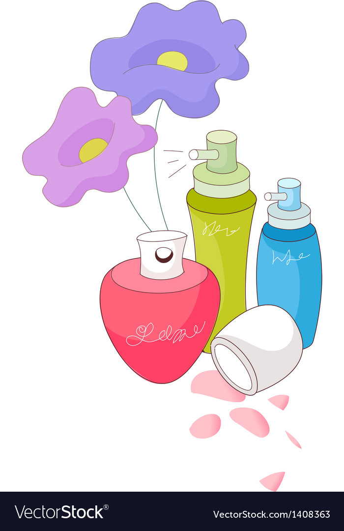 A view of perfumes vector | Price: 1 Credit (USD $1)