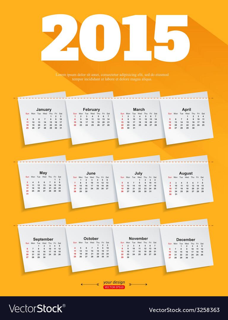 Calendar template brochure business design vector | Price: 1 Credit (USD $1)