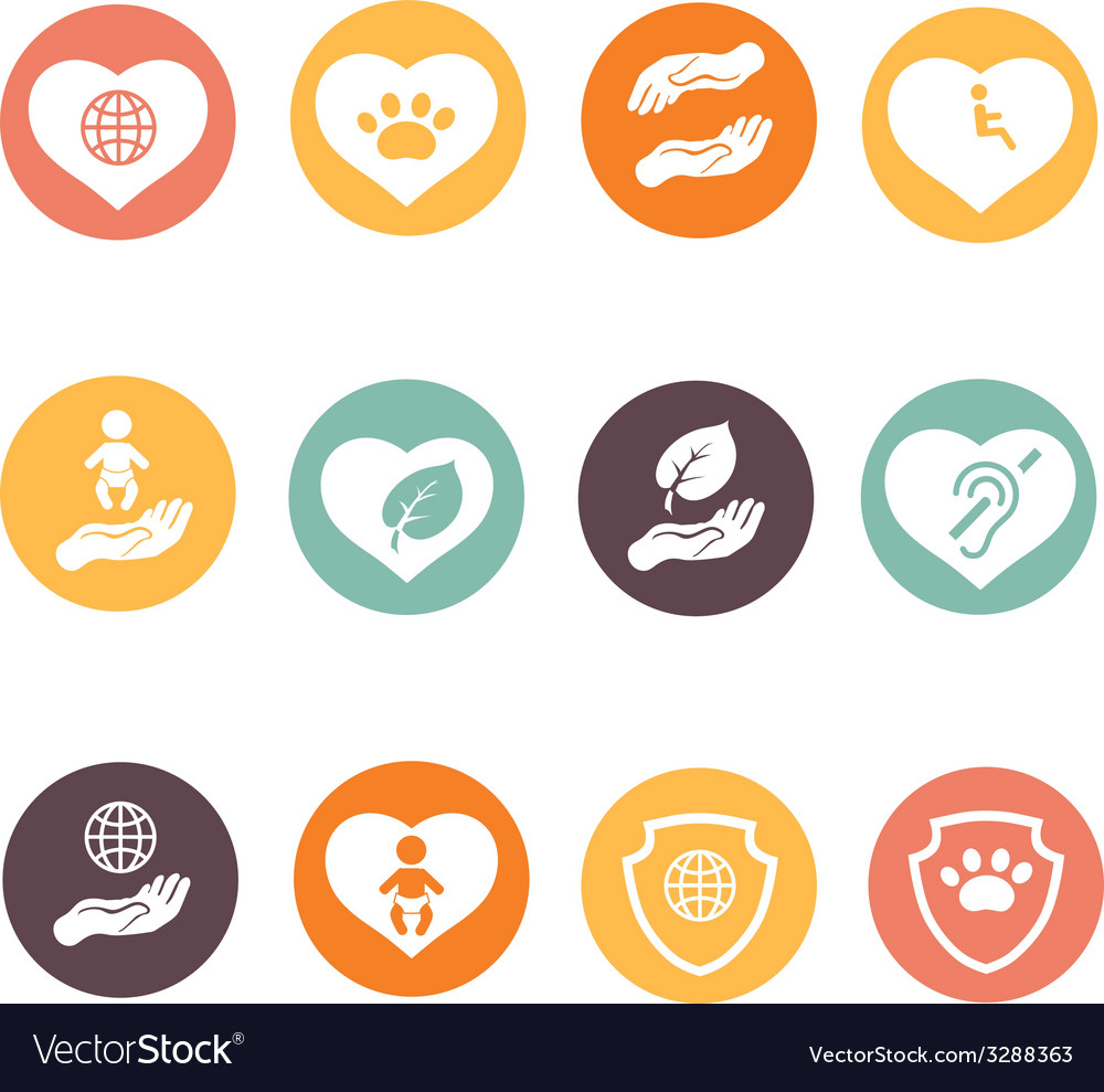 Charity donation social services and volunteer vector | Price: 1 Credit (USD $1)