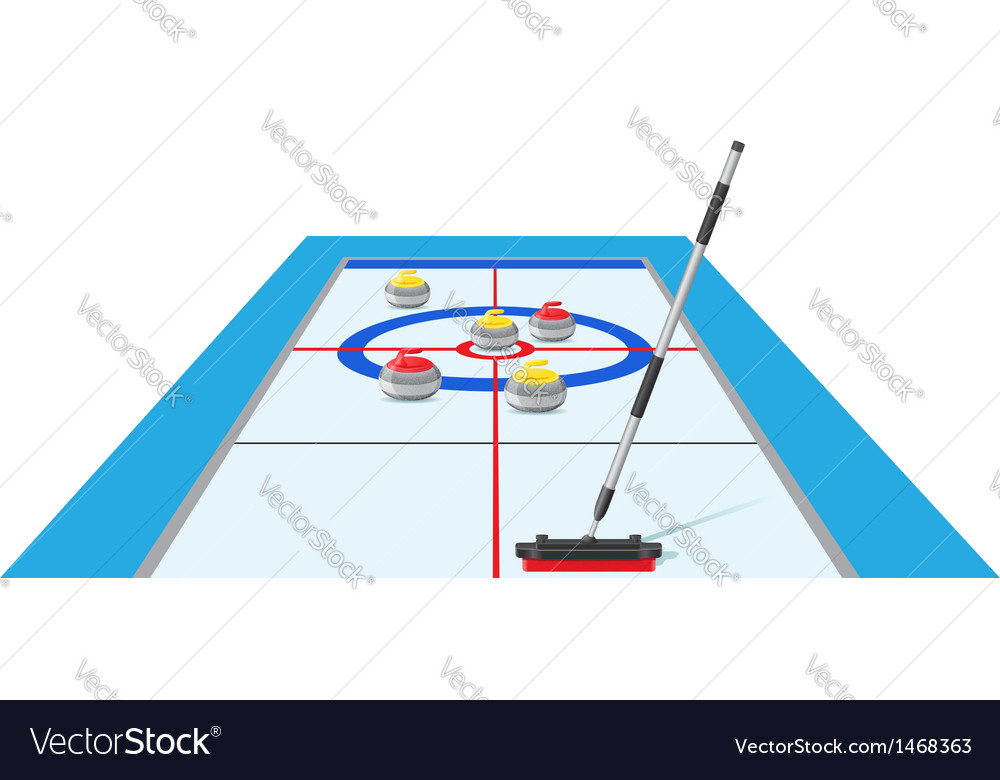 Curling 02 vector | Price: 1 Credit (USD $1)